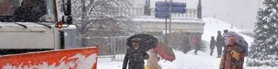 Сугробы в Москве за выходные достигли 55 см