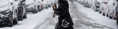 На столицу США обрушилась снежная буря