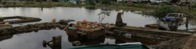 В Тулуне уровень воды в реке Ия идет на спад