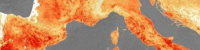Ученые показали, как рекордная жара в Европе выглядит из космоса