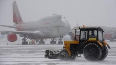 Фото В аэропортах Москвы из-за снегопада отменили и задержали около 85 рейсов