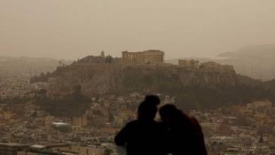 Photo of Небо над греческим островом Крит покраснело из-за африканской пыли