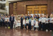 Фото Голубая лента России. В Музее Победы состоялся экологический флешмоб
