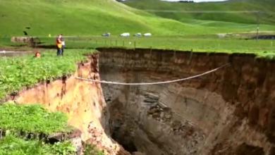 Photo of На ферме в Новой Зеландии появился провал глубиной с шестиэтажный дом