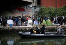 Фото В Париже ликвидирован один из самых больших лагерей мигрантов