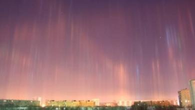 Фото Жители Нижнего Тагила наблюдали в небе световые столбы